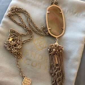Kendra Scott Rose Gold Rayne Necklace